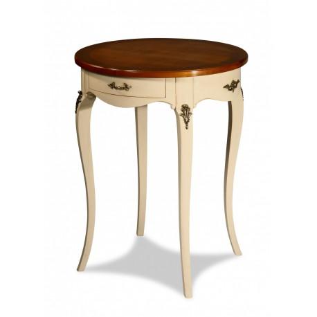 Table d 39 appoint ronde laqu ivoire styles louis xv en vente chez styles de france colmar - La table de louise colmar ...
